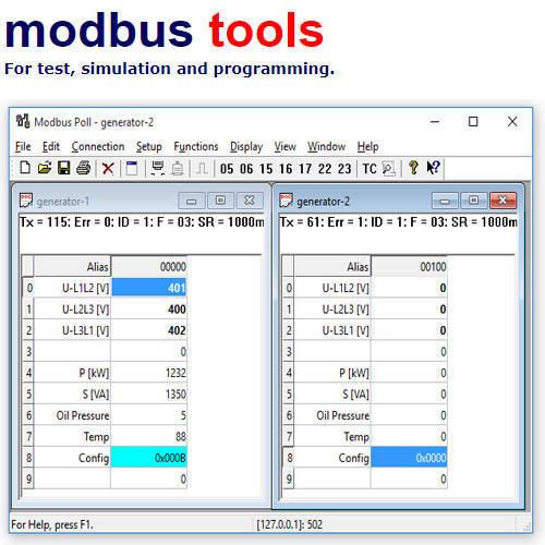 Modbus Poll TCP/IP 協定測試軟體