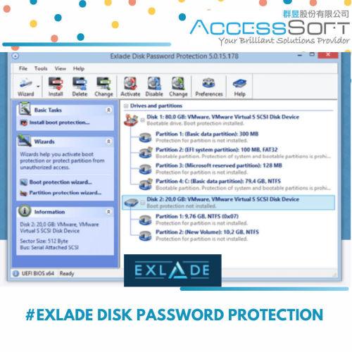 Exlade Disk Password Protection 磁碟安全管理工具