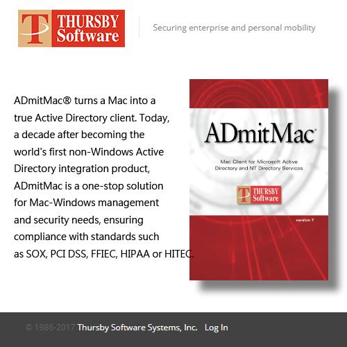 Thursby ADmitMac v10 網域管理工具