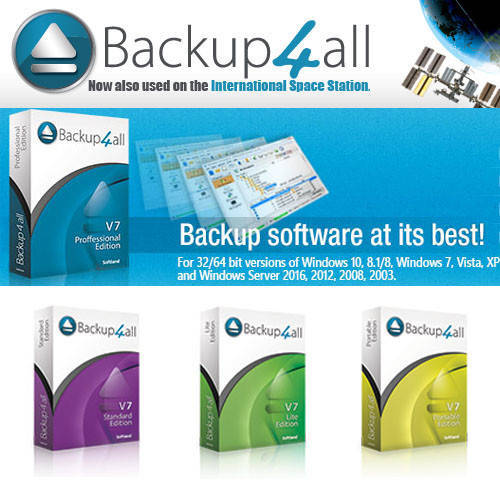 Backup4all Professional 資料備份工具