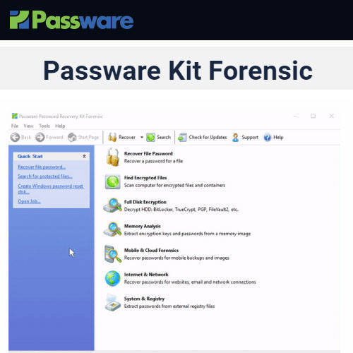 Passware Kit Forensic 密碼恢復重設軟體
