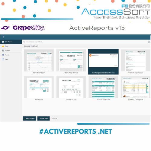 台灣白金級代理商 GrapeCity ActiveReports 15 .NET報表工具