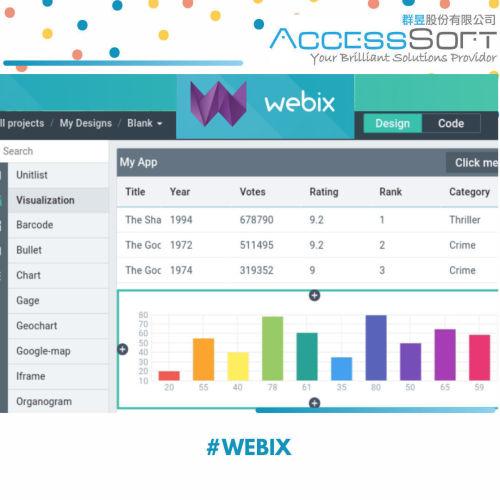 Webix - JavaScript UI Framework with HTML5 UI Components 跨瀏覽器UI元件的JavaScript庫