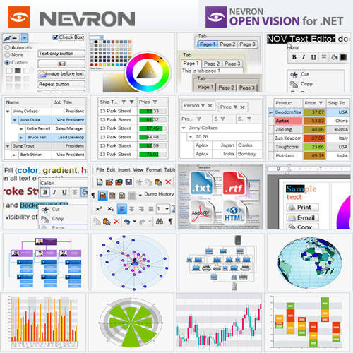 Nevron Open Vision for .NET 圖表控件軟體