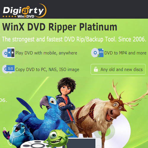 WinX DVD Ripper Platinum DVD轉檔軟體